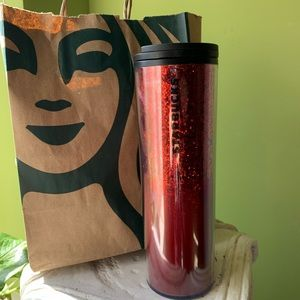🌟 Limited Edition Red Glitter Thermos 🌟